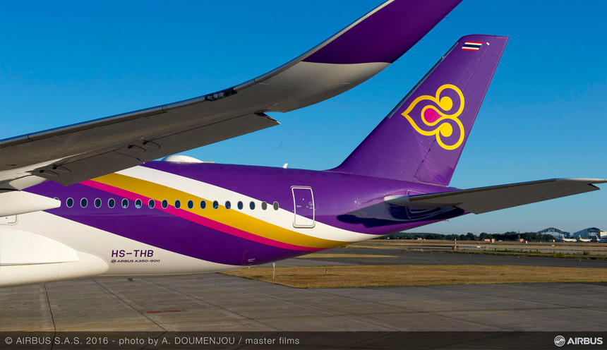 A350 Thai Airways per Roma e Milano