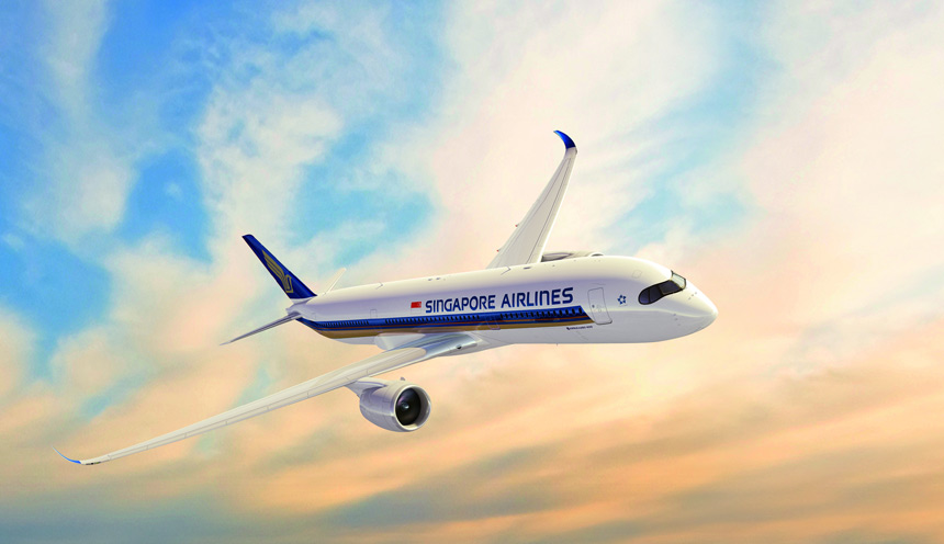 Singapore Airlines introduce l'Airbus A350 su Roma
