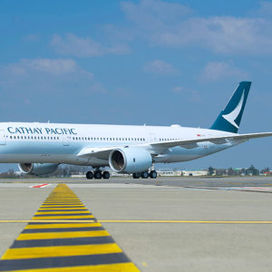 In volo con il nuovo Airbus A350 Cathay Pacific