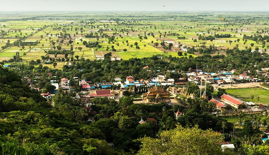 Panorama sulla campagna cambogiana
