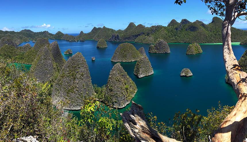 Panorama dall'isola di Wayag