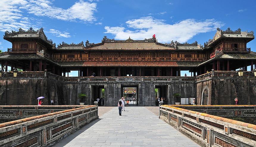 Scorcio della cittadella imperiale di Hue