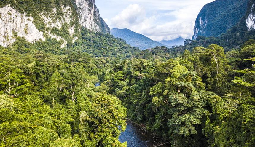 Foto panoramica del parco nazionale