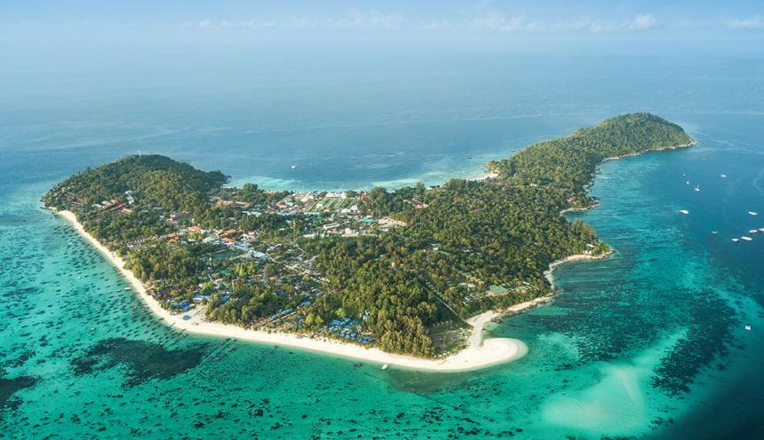 L'isola di Koh Lipe dall'alto.